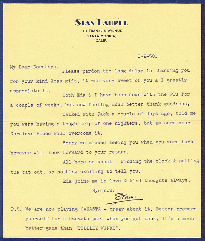 Letters From Stan  January
