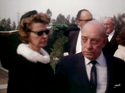 Buster Keaton at Stan Laurel's Funeral