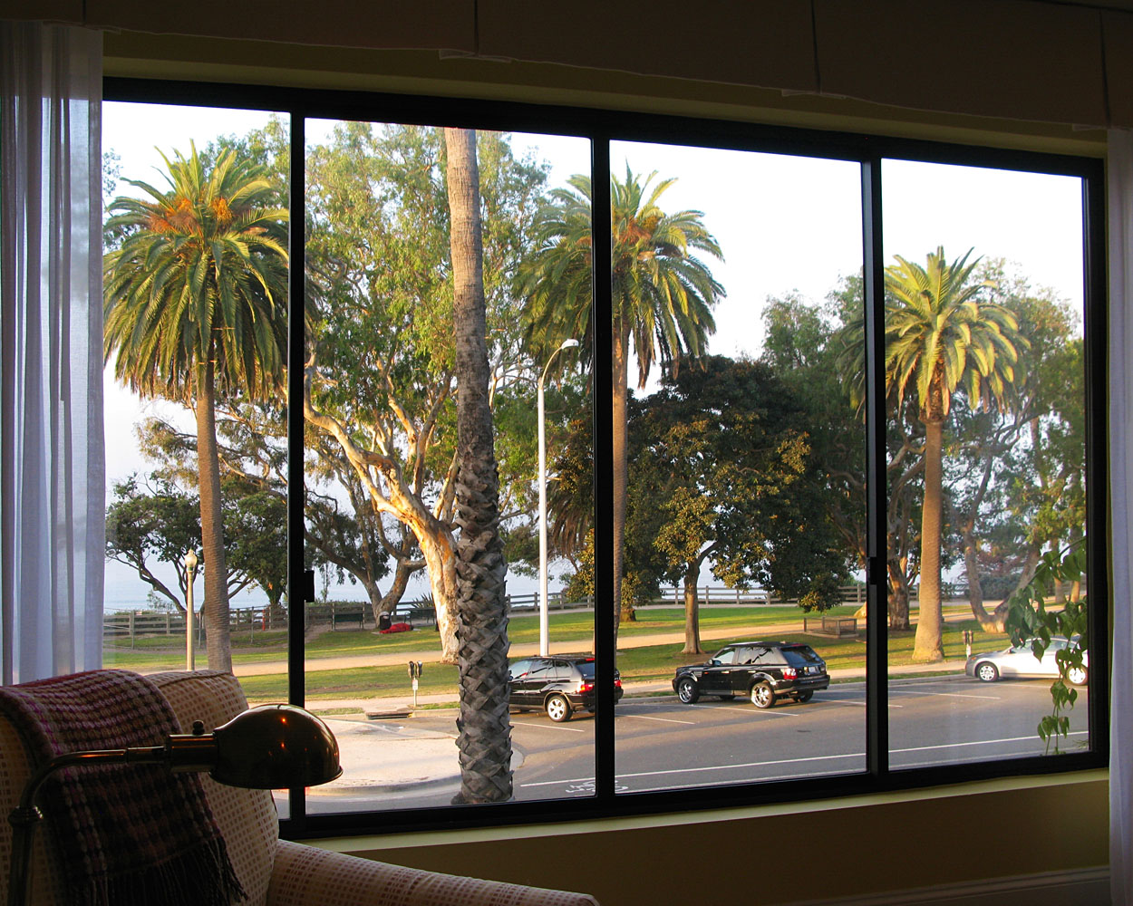 Stan's View of the Pacific Ocean at the Oceana from his Living Room in Santa Monica, California