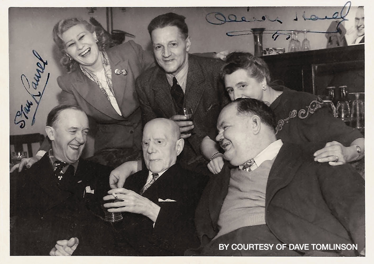 Stan Laurel Visits His Father and Sister